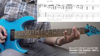 Bullet For My Valentine - Waking The Demon - Riff 2 (Lesson & TAB)