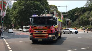 FRNSW Responding LIGHTS AND SIRENS on Elizabeth St and Park St!