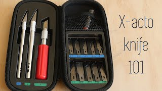 X-acto Knife 101 - The Basics - Types of Blades