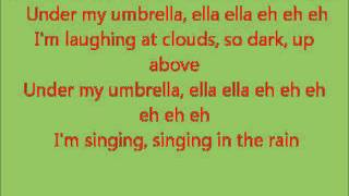 Glee Singin' In the Rain/Umbrella with lyrics