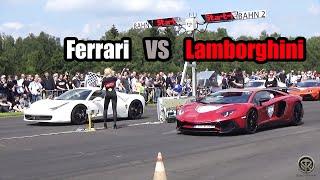Lamborghini Aventador SV VS Ferrari 458 Italia - DRAG RACE!