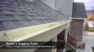 How to Repair a Saggy Gutter