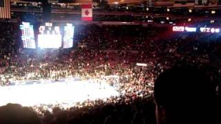 """Chauncey Billups!"" chants LIVE - Knicks vs Bucks"