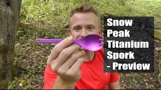 Snow Peak Titanium Spork - Preview