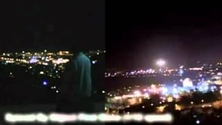 1st & 4th Jerusalem UFO video synced 2 ways