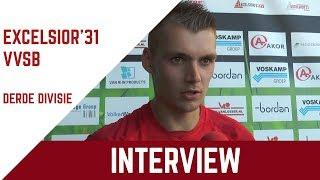 "Screenshot van video Dérian Reinders: ""VVSB liet ons niet voetballen"" | Excelsior'31 - VVSB"