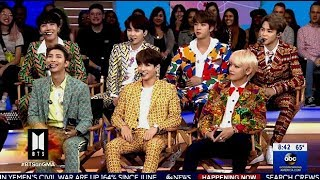 BTS Chats The Success Of The Group & Speaking At The U.N. On (GMA)