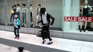 Michael Jackson impersonator in Stockholm