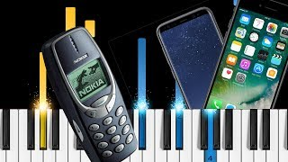 Cell phone ringtones on piano - Nokia, iPhone, Android - Ringtones Piano Tutorial