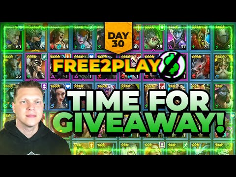 f2p Day 30! TIME FOR GIVEAWAY! | RAID Shadow Legends