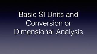 Basic SI Units and Conversion/Dimensional Analysis (Tagalog Physics)
