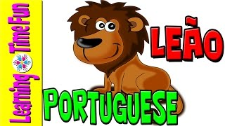 Learn Animal Names in Portuguese | Portuguese Kids | Brazilian Portuguese | Zoo Animals | Os Animais