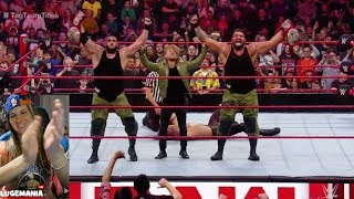 WWE Raw 11/5/18 Seth Rollins vs AOP Tag Team Titles