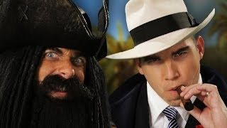 Blackbeard vs Al Capone.  Epic Rap Battles of History Season 3.