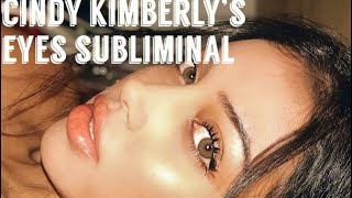 Cindy Kimberly's eyes subliminal