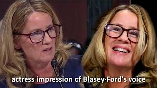 Actress imitates Blasey-Ford squeaky voice