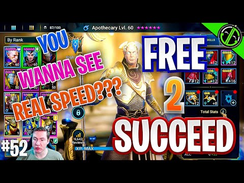 200 + Speed Apothecary - We've Officially Won Raid | Free 2 Succeed - EPISODE 52