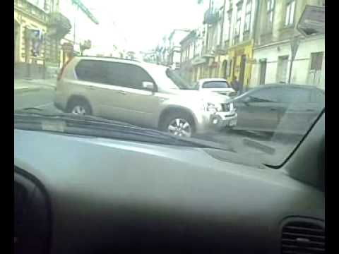 Driving in the heart of Lviv