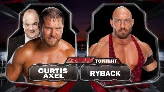 WWE Raw Curtis Axel Vs Ryback Full Match HD width=