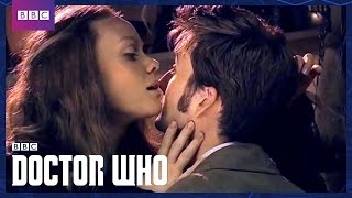 The Doctor and Martha Kiss - Doctor Who - BBC One width=