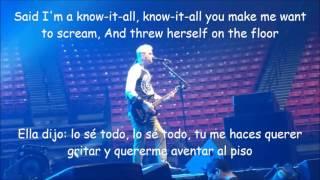 blink 182-Shes out of her mind Lyrics y Subtitulada LIVE 2016