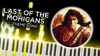 The Last of the Mohicans Theme (Trevor Jones) - Piano Tutorial