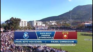 Premier Interschools Rugby   Paul Roos Gymnasium vs Paarl