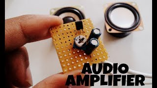 Audio amplifier   small cheap and powerful amplifier circuit with volume control   using transistor