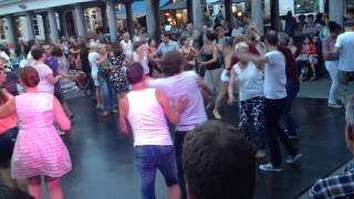 Dj Sam Bamba in Brugge vismarkt  open air party fiesta latino .👍🏽🎶☀️