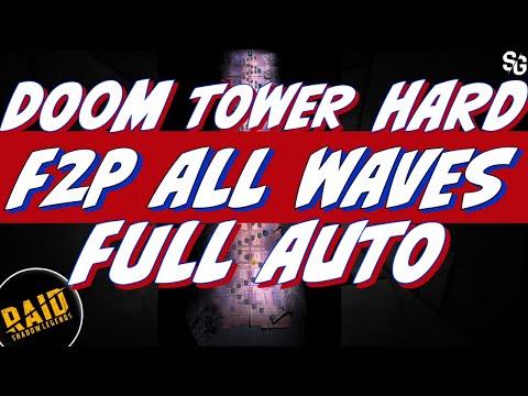 Doom tower HARD auto 95% w/ F2P friendly teams. You can do it! Raid Shadow Legends.
