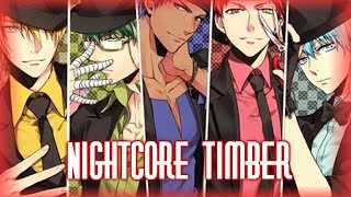 Nightcore - Timber (switching vocals)