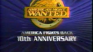 1998 - Promos for 10th Anniversary of 'America's Most Wanted' & 'Melrose Place'