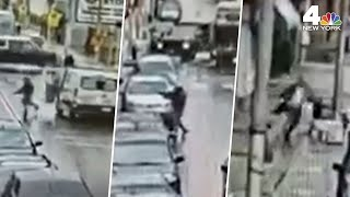 Jersey City Attack: Surveillance Video Shows Start of Shooting at Kosher Market  | NBC New York