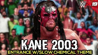 WWE 2K19 Kane Slow Chemical Theme Entrance, Signature, Finisher, Victory Motion   PC Mods