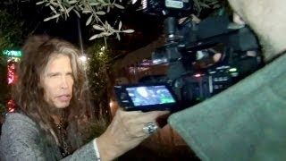 ANGRY Steven Tyler Grabs Paparazzi's Camera