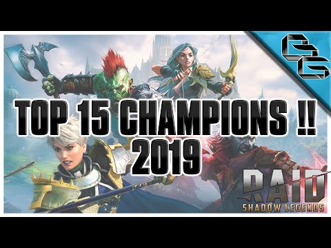 RAID: Shadow Legends | TOP 5 RARE, EPIC & LEGENDARY CHAMPIONS | End Game Basics | 2019