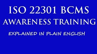 ISO 22301 | BCM | Business Continuity Management System | ISO 22301 Awareness Training width=