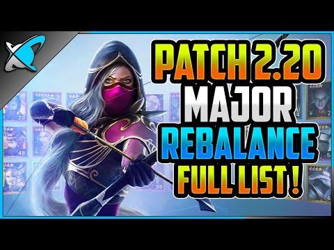 "PATCH 2.20 ""Major Rebalance""...BUFF or NERF !?! | Tier List Full Breakdown | RAID: Shadow Legends"