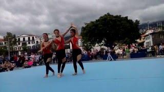 Catarina/Ana /Lécia - Trio Fem. Acrobática Porto Santo - Exibições Praça do Povo - FDE'16