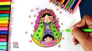 Cómo Dibujar la Virgen de Guadalupe   How to Draw the Virgin of Guadalupe - 1/5 width=