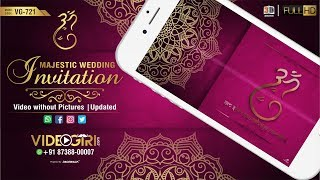 Majestic Wedding Invitation Video | without Pictures | VG-721 | Updated