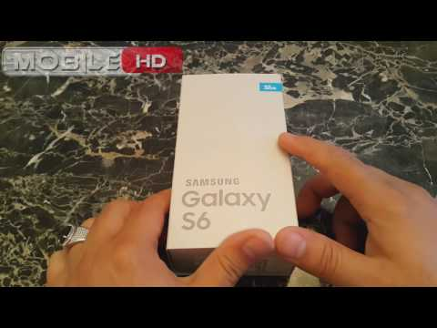 فتح علبة سامسونج جلاكسي اس 6 ازرق توباز شريحتين | SAMSUNG GALAXY S6 DOUS