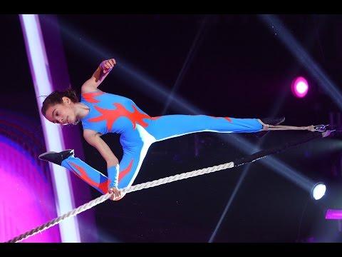 Cristina Tic-Chilimen, din Bucureşti, număr de acrobaţie aeriană la frânghie, Next Star