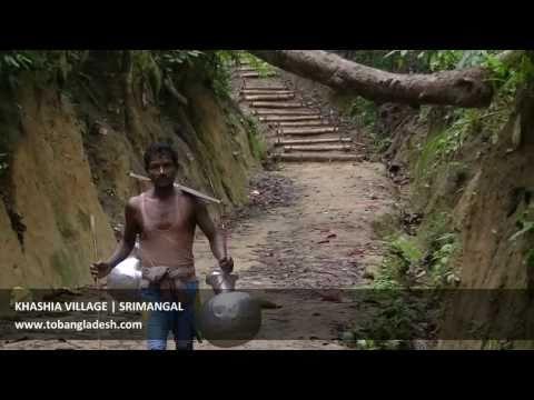Beautiful Bangladesh Khashia Tribal village Srimangal Bangladesh Video