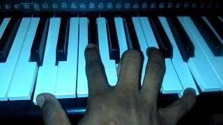 La Cumbia Del Sol Los Caminantes titurial en teclado