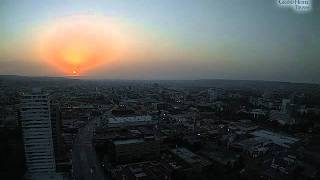 Pôr do Sol -- sunset visible from Tijuana, Baja California, Mexico (time-lapse) - July 03, 2011