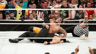Roman pinned for the first time in WWE!  11-on-3 Handicap Match: Raw, Sept. 23, 2013 width=