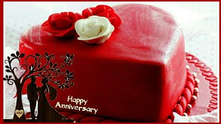 Happy Anniversary Cake Images WhatsApp Status, Wedding Anniversary Wishes, Greetings, Cake Images|