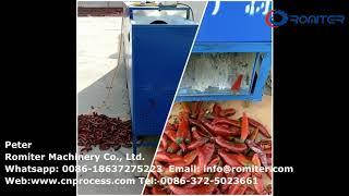 Automatic Urn Dry Big Chili Pepper Stem Cutting Removing Machine for Sale