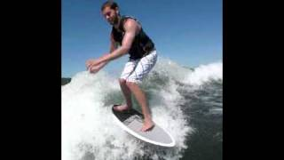 Joel Menke Wake Surfing on Lake Carlos Alexandria MN